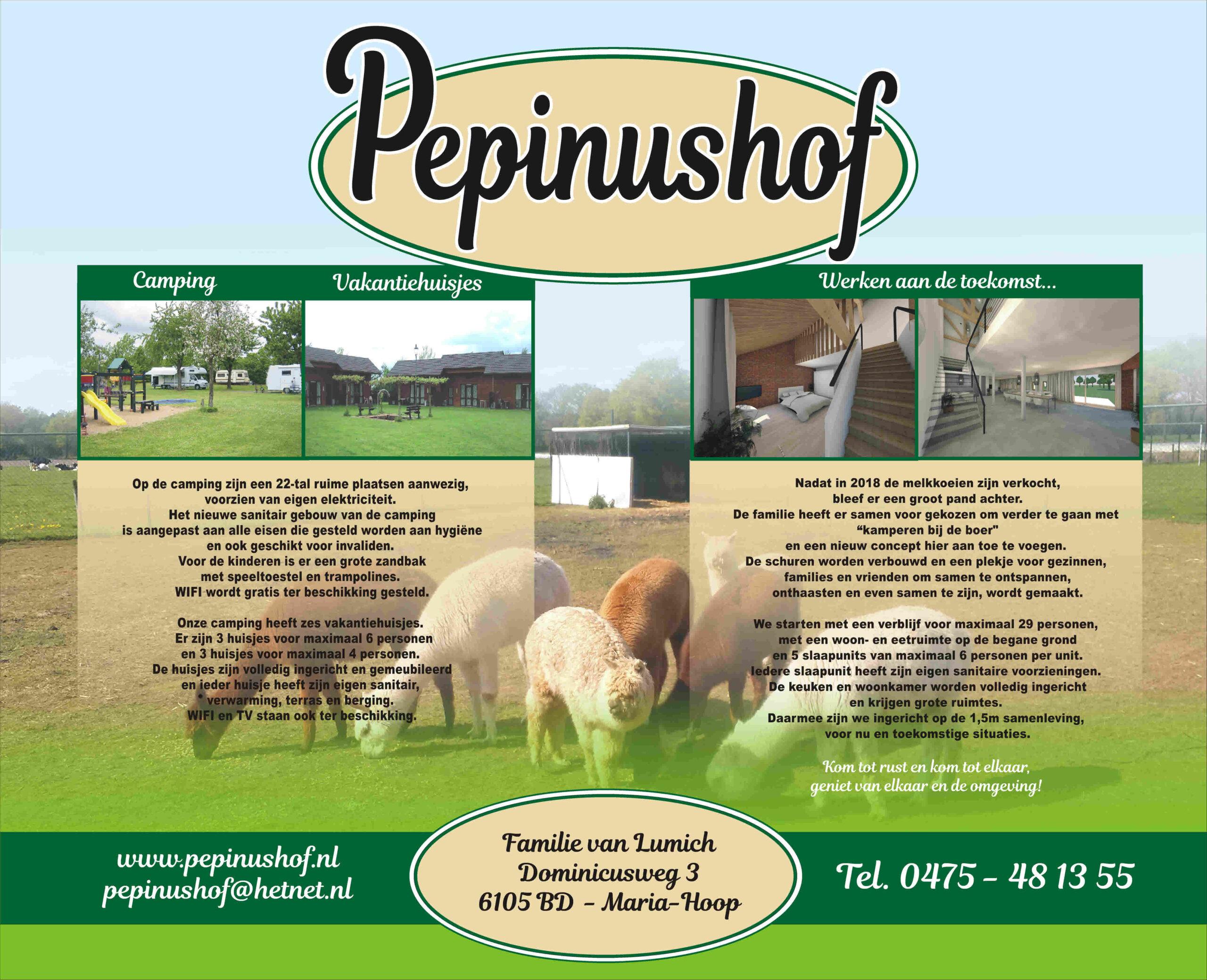 Toekomst Boerderijcamping pepinushof
